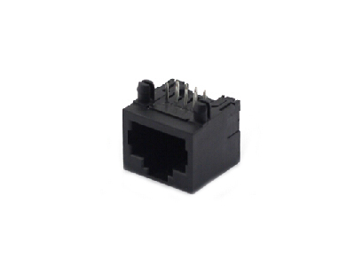Horizontal unshielded 8p8c 1x1 rj45 female connector