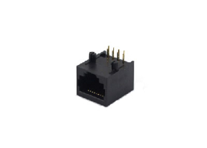 1x1 no shield right angle 10P rj45 female connector