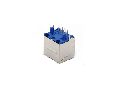 8P8C 180 degree shield rj45 modular jack single port