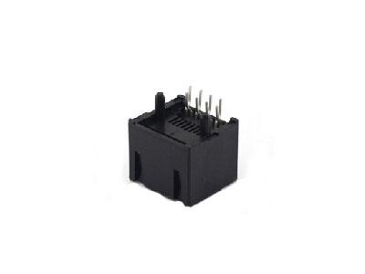8P8C vertical plastic rj45 modular jack connector