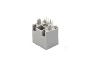 8p8c vertical rj45 female socket with LED light