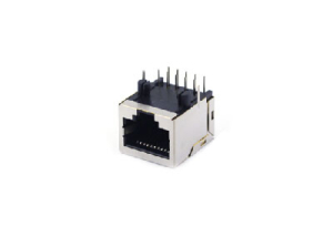 90 degree 1x1 RJ45 jack 10p8c with shielded