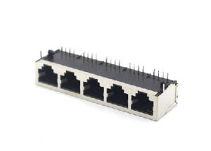 90 degree 5 ports shielded rj45 jack 10P