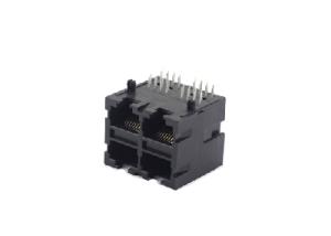 90 degree 8P8C rj45 ethernet connector 2x2 PCB jack
