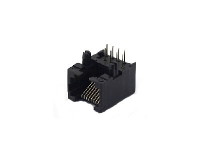 90 degree 8P8C rj45 female connector with split peg