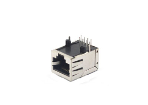 90 degree 8P8C rj45 lan port with shield 1x1