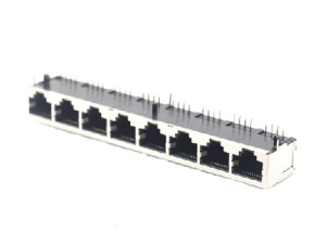 8p8c 8 ports metal rj-45 ethernet connector