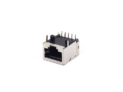 90 degree single shielded 10P modular jack rj45 connectors