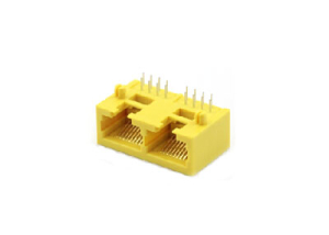 90 degree 1x2 RJ45 pcb connector jack 10P8C