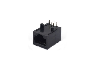 Right angle 8P 1 port rj45 connector socket without shield