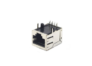 Right angle single port shielded rj-45 modular jack 8P