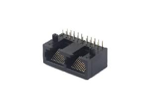 Horizontal 10p 1x2 pcb mount rj45 network socket