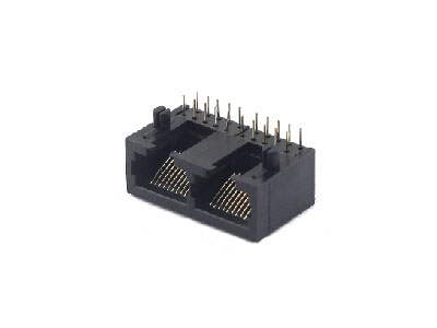 Horizontal 10p 1x2 pcb mount rj45 network socket