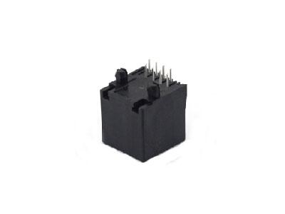 Vertical plastic 10P modular jack rj45 connector 1x1