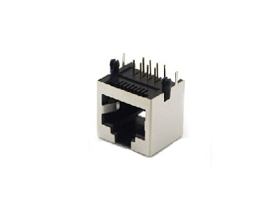 Right angle 1x1 8P shielded RJ45 connection jacks