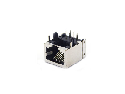 8P8C shielded single rj45 ethernet jack connector