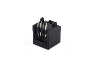 Single plastic rj45 modular socket with split peg 8p8c