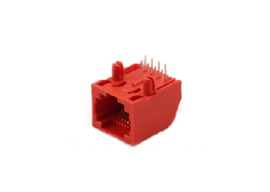single port pcb mounting RJ45 connector jack 8p8c