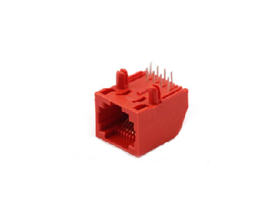 single port pcb mounting RJ45 connector jack 8p8c