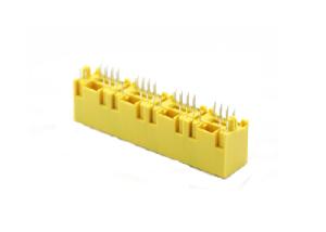8p8c 1x4 180 degree rj45 modular jack with led