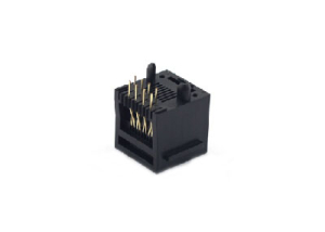 Vertical 8P single rj45 female connector with ear