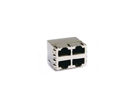 10/100 BASE-T 2x2 rj45 transformer with EMI