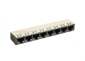 100 BASE-Tx 8 ports rj45 magnetics jack