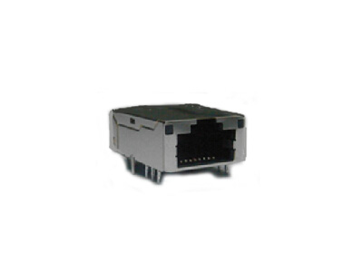 100BASE-TX 1x1 RJ45 integrated magnetics with LED