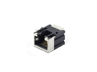 RJ45 surface mount technology female connector with half shield