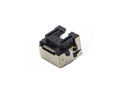 surface mount RJ45 modular jack connector with shield