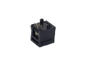 6 pin pcb rj11 connector with ear with split peg