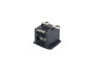 Surface mount RJ11 modular jack connector 6P6C