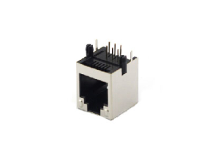 Right angle 6P 1x1 shielded rj11 female connector jack