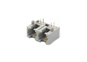 1x2 right angle RJ11 modular jack connector