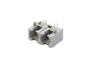 1x2 right angle RJ11 modular jack connector