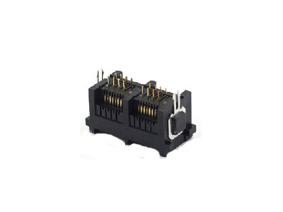 AICO 8P 180 degree dual ports rj45 female connector image