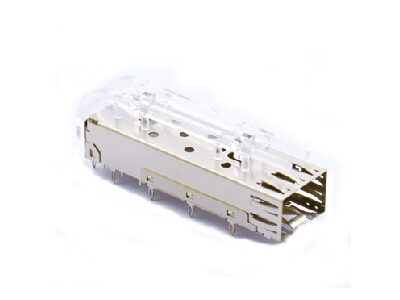 Press-fit SFP 1x1 Cage with Light Pipe