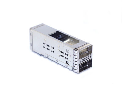 QSFP+ 2x1 Receptacle with Cage Assmbly