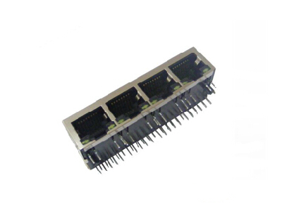 RJ45 100 BASE-TX POE integrated connector module jack