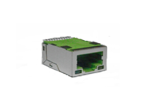 RJ45 SMT jack with integrated magnetics