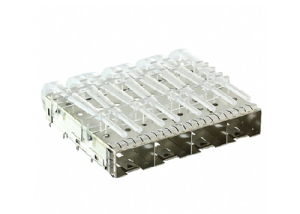 SFP Plus 4 ports Cage with Light Pipes