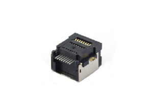 Shielded 1x1 8P SMT RJ45 modular jack connector