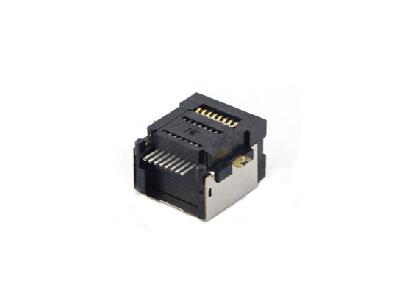 Shielded 1x1 8P SMT RJ45 modular jack connector