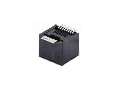 RJ45 180 degree SMT modular jack connector