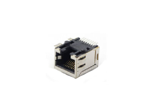 Single port RJ45 8P8C SMT modular jack with shield