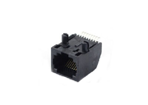 Unshielded 1x1 8P8C RJ45 SMT female socket PCB jack