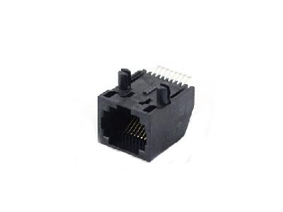 Unshielded 1x1 8P8C RJ45 SMT female socket PCB jack