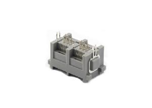 180 degree dual ports rj11 female socket