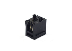 right angle unshielded 4-pin female connector pcb jack