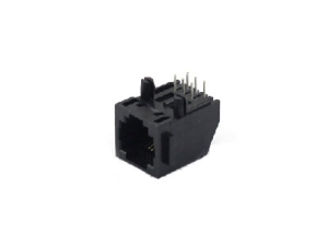 Unshielded single port 6P6C RJ11 modular jack connector